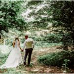 Photos for wedding day couple in the woods