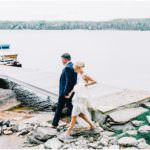 Cottage wedding on lake in Haliburton