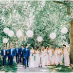 Wedding day balloons at Nestleton Waters Inn