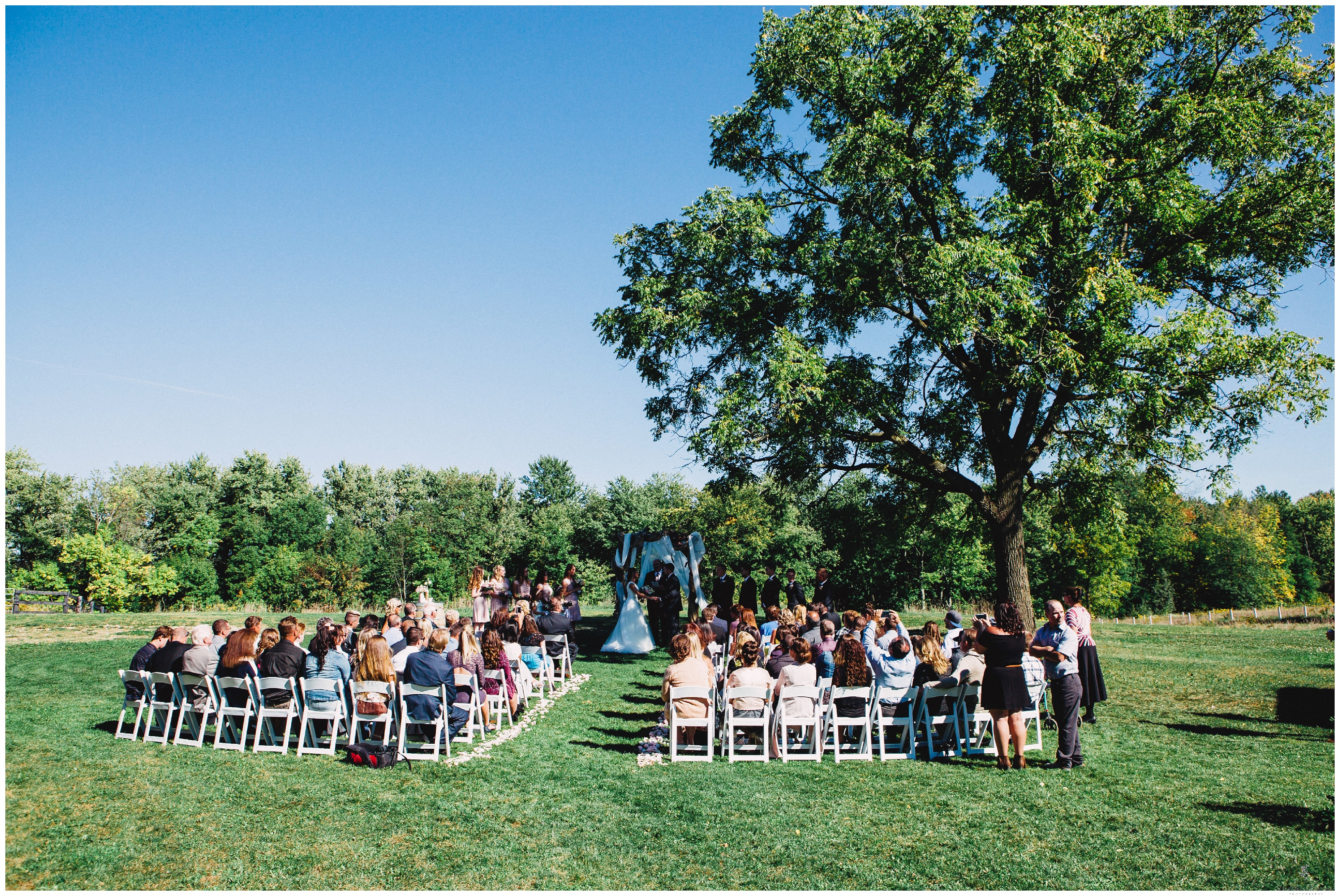 Ontario Outdoor Barn Wedding In Guelph By Heather Prosser Photography