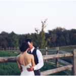 Wedding couple at South Pond Farms